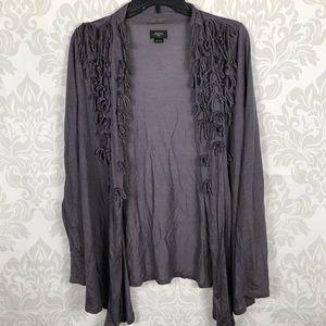 ❤️ 4/$25 Deletta Purple Bow Open Cardigan Size L